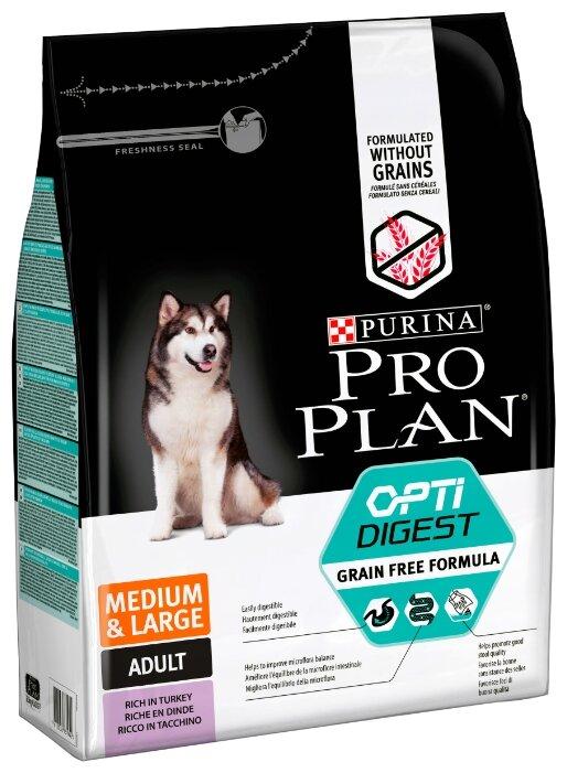 Корм для собак Pro Plan Optidigest индейка