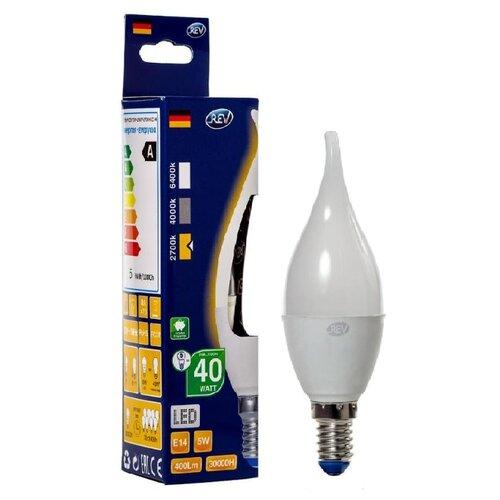 Фото - Лампа светодиодная REV 32276 4, E14, C37, 5Вт лампа светодиодная led e27 8 5вт 220v 2700к rev