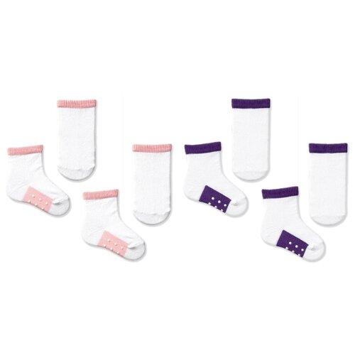 Купить Носки НАШЕ комплект из 4 пар, размер 10 (9-10), розовая дымка, лиловый