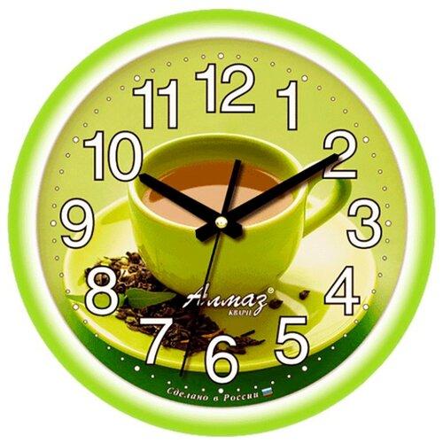 Часы настенные кварцевые Алмаз E17 зеленыйЧасы настенные<br>