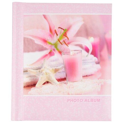 Фотоальбом BRAUBERG На память (390682), 60 фото, для формата 18 х 24, розовый