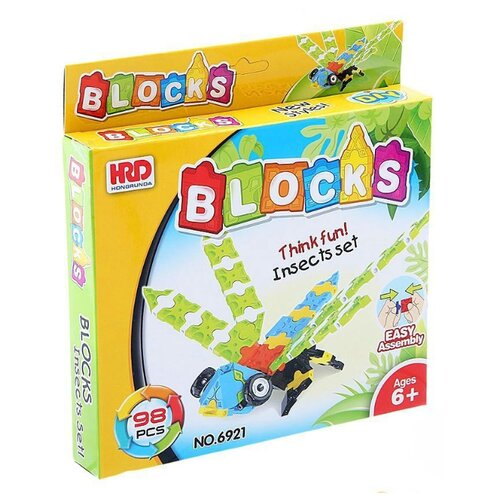 Конструктор Shantou Gepai HRD BLOCKS 6921 Cтрекоза магнитный конструктор shantou gepai играй и создавай 56 элементов