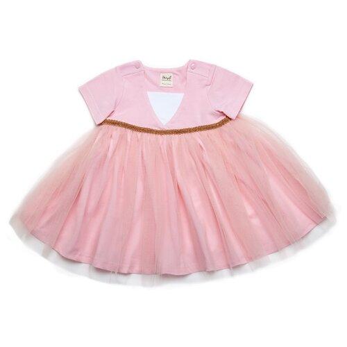 Купить Платье ЁМАЁ размер 74, розовый, Платья и юбки