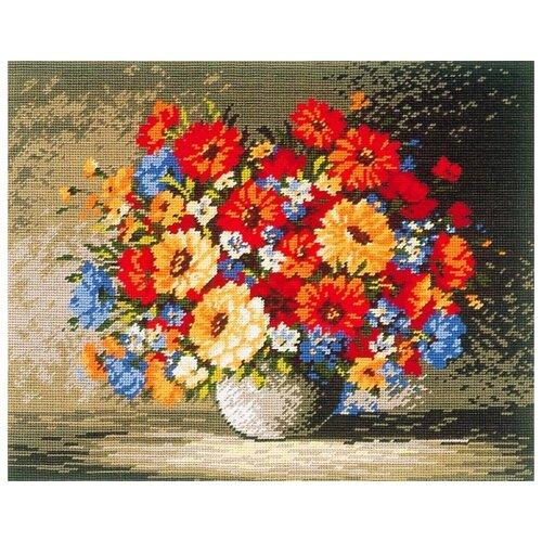 Schaefer Набор для вышивания гобелена Букет цветов 40 x 50 см (427/29) набор для вышивания крестом rto букет хризантем 50 х 40 см
