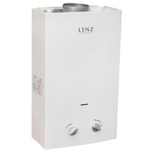Проточный газовый водонагреватель Lenz Technic 10L White
