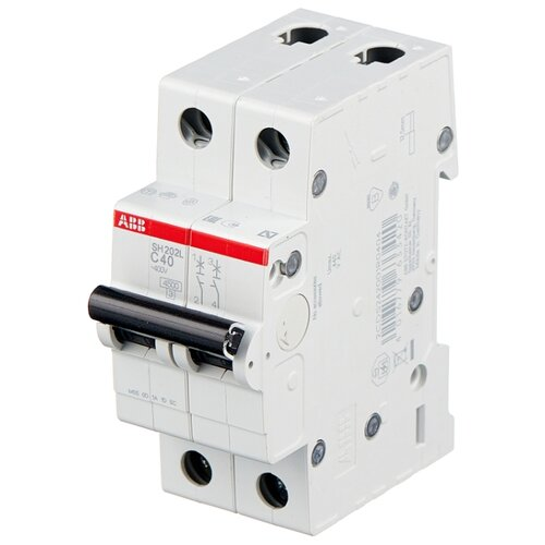 Автоматический выключатель ABB SH202L 2P (С) 4,5kA 40 А автоматический модульный выключатель abb 2п c sh202l 4 5ка 16а 2cds242001r0164