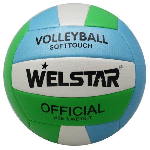 Волейбольный мяч WELSTAR VMPVC4333E зеленый/голубой/белый волейбольный мяч kata 4500 белый зеленый красный