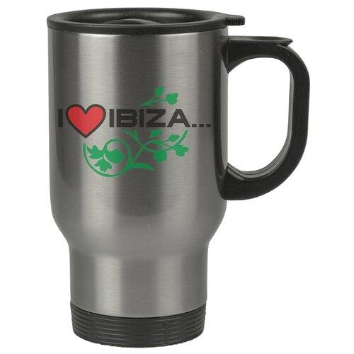 Автомобильная термокружка I love Ibitza