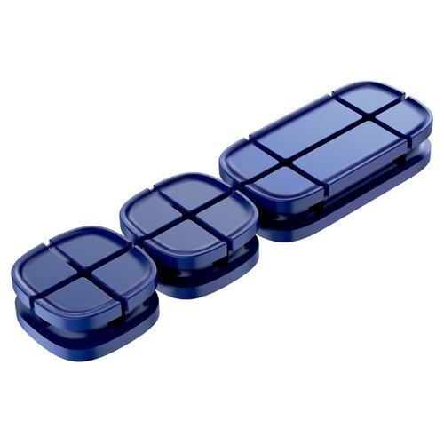 Клипса Baseus Cross Peas Cable Clip синий