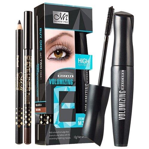 Menow Набор для макияжа: тушь для ресниц Volumizing Mascara и 2 карандаша для глаз