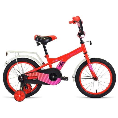 Детский велосипед FORWARD Crocky 16 (2020) красный/фиолетовый (требует финальной сборки)