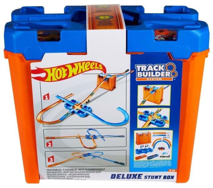 Трек Hot Wheels Track Builder Set House Stunt Deluxe GGP93