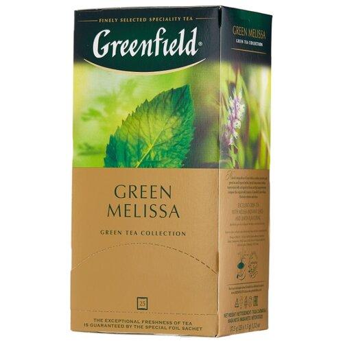 Чай зеленый Greenfield Green Melissa в пакетиках , 37.5 г , 25 шт.