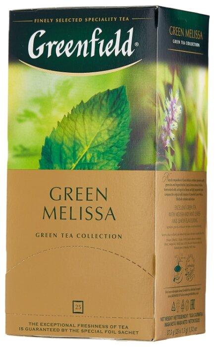 Чай зеленый Greenfield Green Melissa в пакетиках — купить по выгодной цене на Яндекс.Маркете