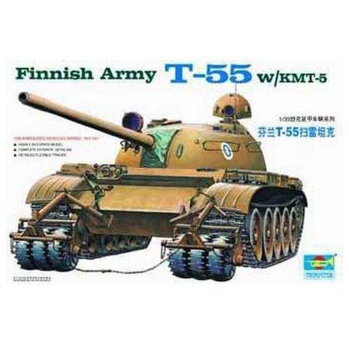 Сборная модель Trumpeter Finnish Army T-55 W/KMT-5 (00341) 1:35 realts trumpeter 01034 1 35 russian kamaz 4310 truck