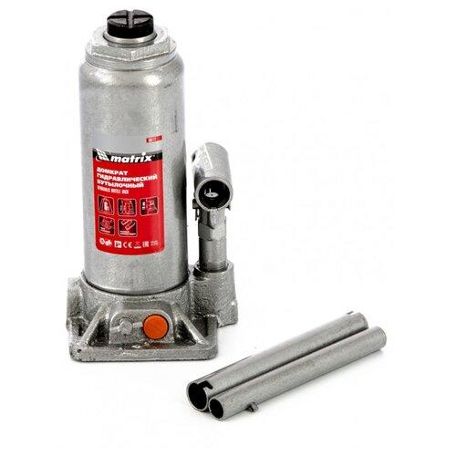 Домкрат бутылочный гидравлический matrix 50777 (6 т) стальной