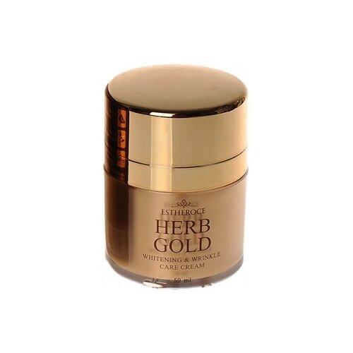 Deoproce Estheroce Herb Gold Whitening & Wrinkle Care Cream Крем для лица омолаживающий, 50 мл недорого