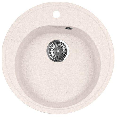 Врезная кухонная мойка 51 см А-Гранит M-08 светло-розовый врезная кухонная мойка 73 см а гранит m 18 m 18 315 розовый