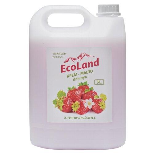 Крем-мыло жидкое EcoLand Клубничный мусс, 5 л недорого