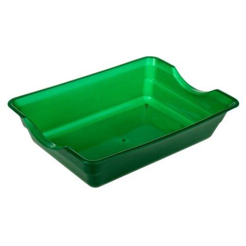 Туалет-лоток для кошек Сима-ленд 3371388/3371390/3371391 36х35х9 см зеленый