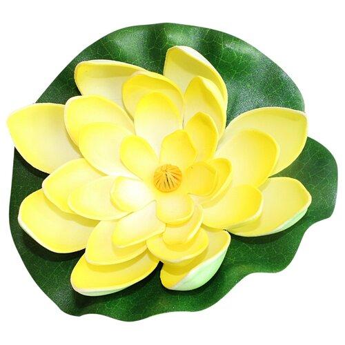 Фигура для водоема Inbloom Лилия декоративная 15 см (171-002) желтый