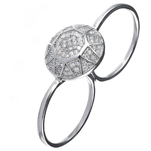 JV Кольцо с фианитами из серебра GM3040-R-001-WG, размер 17 jv кольцо с фианитами из серебра r25193 r 001 wg размер 17