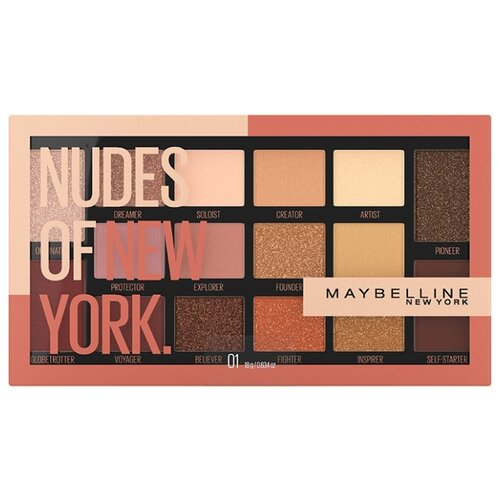 Maybelline New York Палетка теней для век Nudes of New York ludvig new york свитер
