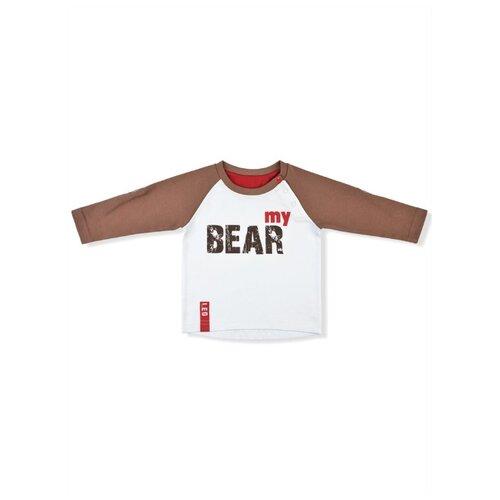 Купить Лонгслив LEO размер 80, коричневый, Футболки и рубашки