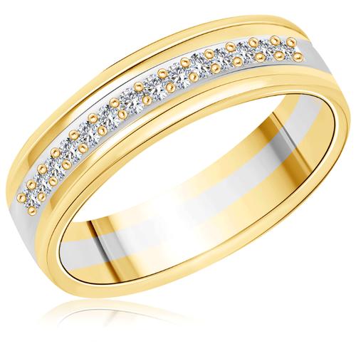 Бронницкий Ювелир Кольцо из желтого золота 04К1018, размер 17.5