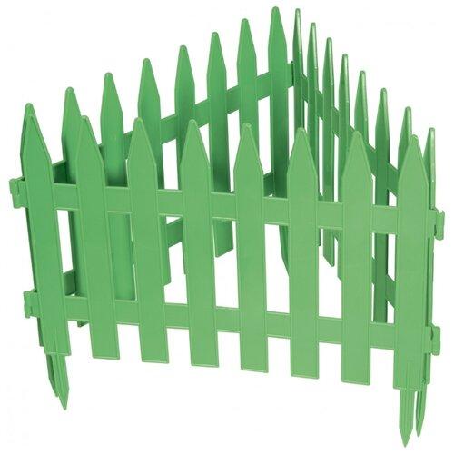 Забор декоративный PALISAD Рейка, зеленый, 3 х 0.28 м