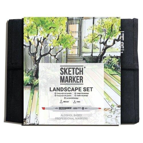 Купить SketchMarker Набор маркеров Landscape Set, 36 шт., Фломастеры