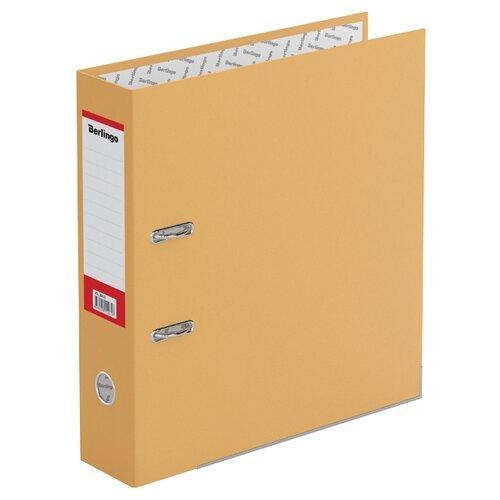 Berlingo Папка-регистратор с металлической окантовкой Hyper A4, 80 мм, крафт-бумага оранжевый папка регистратор 80 мм pvc зеленая с металлической окантовкой