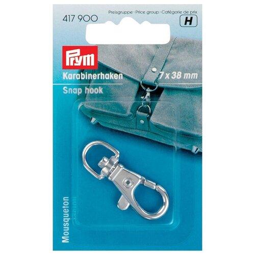 Купить Prym Карабин 7 x 38м 417900, серебристый, Фурнитура