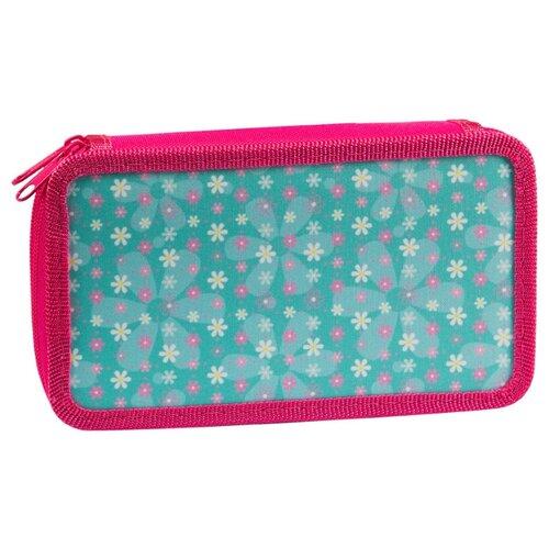 Купить ArtSpace Пенал Цветы (ПК11-20_26308) розовый/зеленый, Пеналы