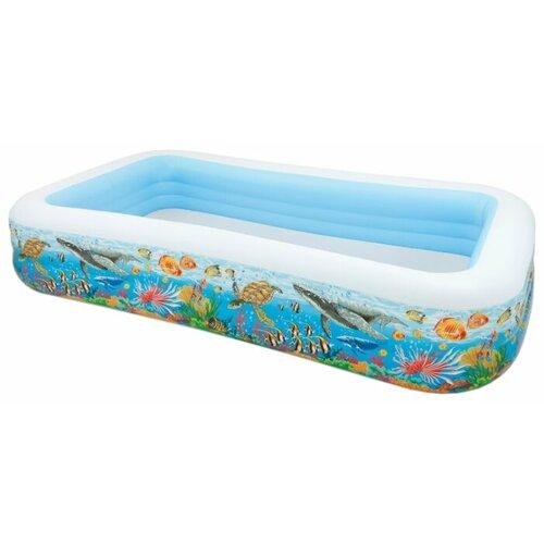 Детский бассейн Intex Swim Center 58485 Tropical Reef круг для плавания детский intex ocean reef 61см 59242