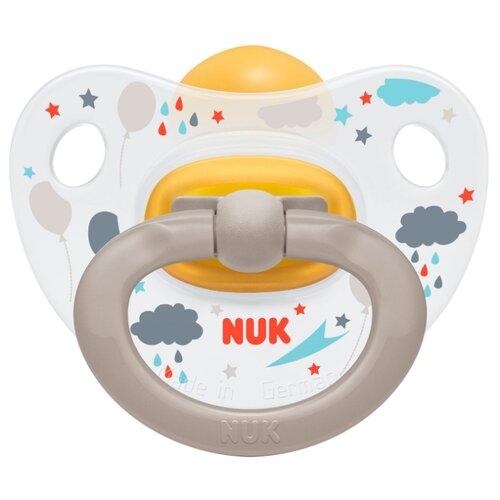 Купить Пустышка латексная ортодонтическая NUK Classic Happy Kids 18-36 м (1 шт) облака, Пустышки и аксессуары