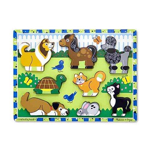 Купить Пазл для малышей. Домашние животные , Melissa & Doug, Детские кубики