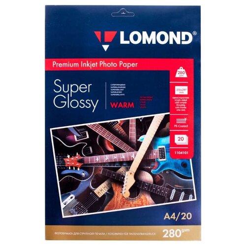Бумага Lomond A4 Premium Photo Paper 1104101 280 г/м² 20 лист. белый 1 шт.