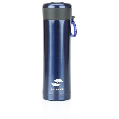 Термокружка STINGER HW-420-32, 0.42 л матовый синий