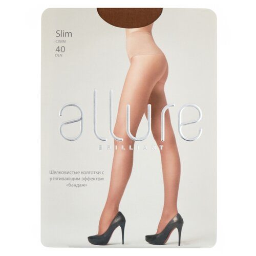 Колготки ALLURE Brilliant Slim 40 den, размер 4, glase (золотистый) колготки allure brilliant vista 40 den размер 3 glase