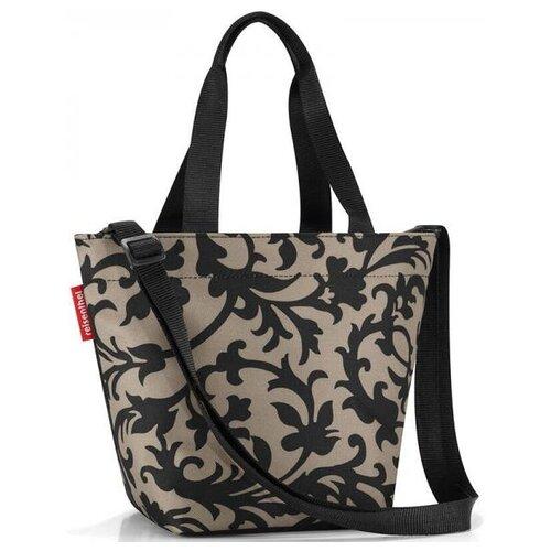сумка планшет reisenthel текстиль черный Сумка тоут reisenthel, текстиль, черный/коричневый
