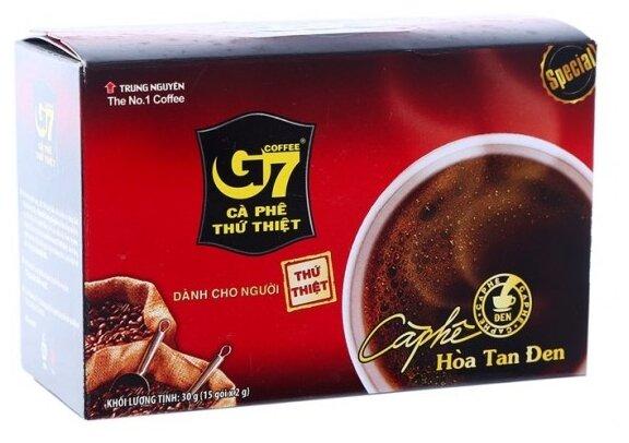 Купить Растворимый кофе Trung Nguyen G7 Hoa Tan Den, в пакетиках (15 шт.) по низкой цене с доставкой из Яндекс.Маркета (бывший Беру)