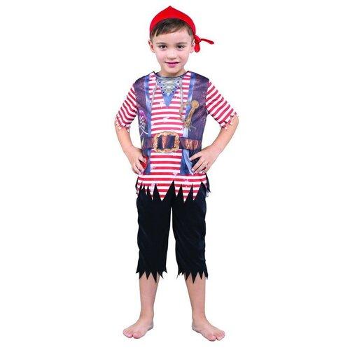 Купить Костюм Bristol Novelty Pirate Boy Пират мальчик (ПБ1802), красный/черный, размер 134-146, Карнавальные костюмы