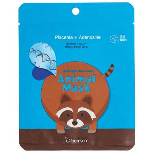 Berrisom Тканевая маска с экстрактом плаценты Animal Mask Series - Raccoon, 25 мл недорого