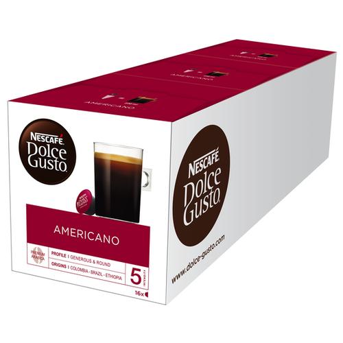 Кофе в капсулах Nescafe Dolce Gusto Americano (48 капс.), без кофеина кофе в капсулах nescafe dolce gusto mexico americano 12 капс