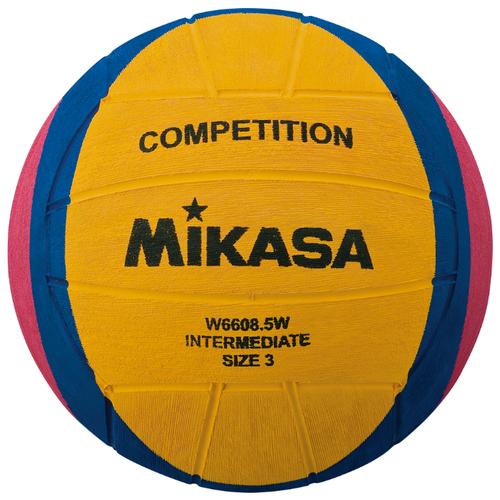 Мяч для водного поло Mikasa W6608.5W желтый/синий/розовый