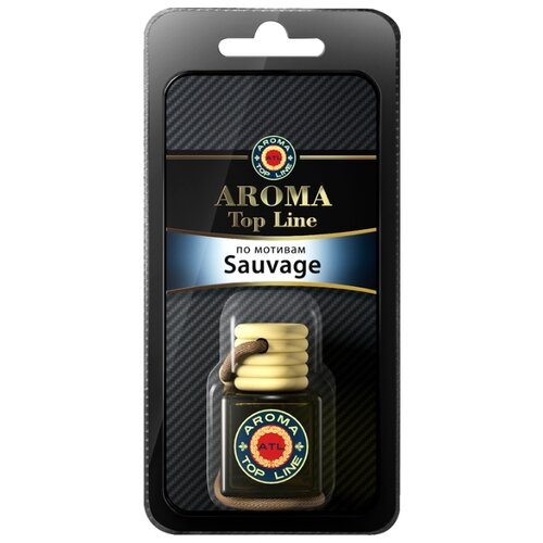 AROMA TOP LINE Ароматизатор для автомобиля 3D Aroma №55 Dior Savage 6 мл ароматизатор автомобильный aroma car speed black на дефлектор ac92313