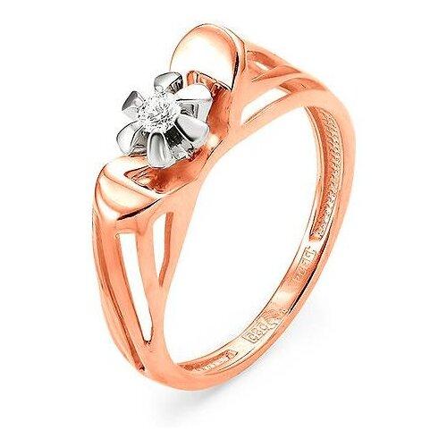 Фото - KABAROVSKY Кольцо с 1 бриллиантом из красного золота 11-0704-1000, размер 17 valtery 0704