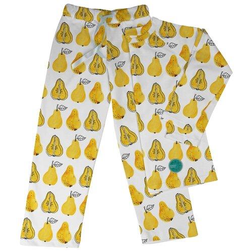 Пижама Marengo Textile размер 152, белый/желтый платье oodji ultra цвет красный белый 14001071 13 46148 4512s размер xs 42 170