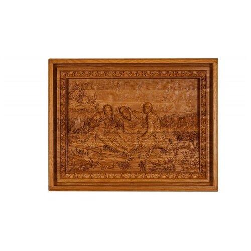 Лото Rovertime в резной шкатулке Охотники на привале, мореный ясень чернослив шоколадный кремлина самолет в резной деревянной шкатулке 400 г